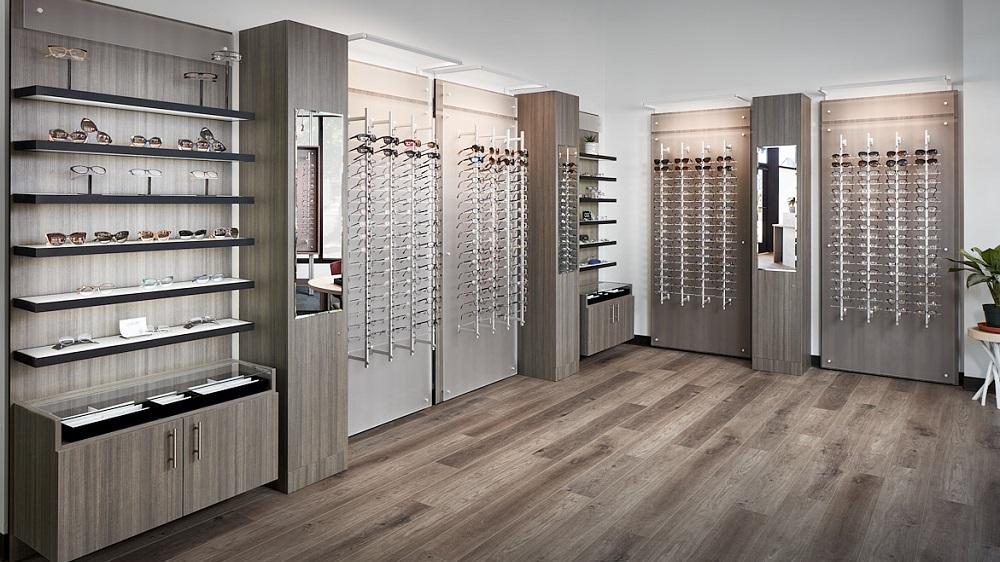 ennco display systems, frame displays, optical store displays, eyewear wall displays, eyewear wall displays, optial displays, sunglass wall display, optical office design