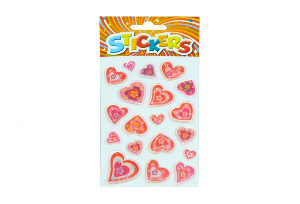 EPOXY HEARTS STICKERS 80X160 ASTD