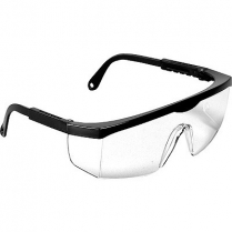 Safety Glasses Clear Lens with Black Frame
