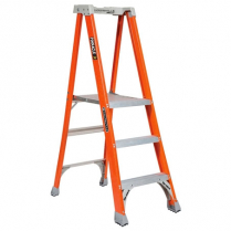 Featherlite Fibreglass Platform Step Ladder 3' Grade 1 250lb