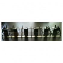 "Product Pusher Kit 6 Facing With 3""H Clear Black 48""W x 15"""