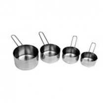 Measuring Cup Set of 4 1/4,1/2,1/3,1 Stainless Steel
