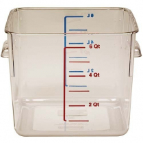 Polycarbonate Square Food Container 6 qt 8.75 x 8.8 x 8'