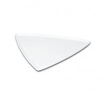 "Triangular Melamine Plate 14"" White"