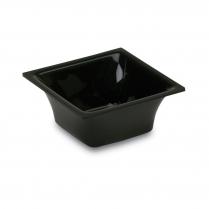 Acrylic Square Insert Pan 5.75 x 5.75 x 2.5``H Black
