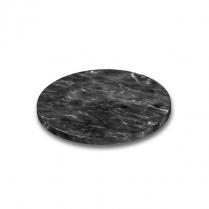"Melamine Marble Disc Pedestal 9"" Dia. x 0.75""H Black"