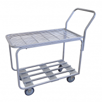 "Stainless Steel Stocking Cart 18.25""W x 44""L x 38.25""H"