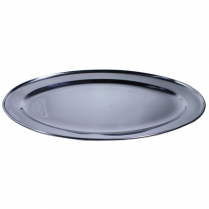 Oval Platter Stainless Steel 15.625 x 10.4375""