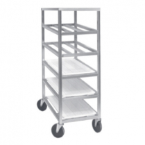 5 Shelf Universal Aluminum Mobile Platter Rack 33
