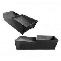 ABS Double Asparagus Tray Black