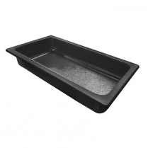 "Bulk Produce Tray 32.5 x 16 3/8 x 5.5"" Black ABS"