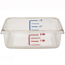 Polycarbonate Square Food Container 2 qt 8.75 x 8.8 x 2""
