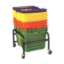 Rolling Basket Stand 24pc Black