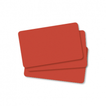 Edikio Cards - Red PVC 30Mil Pack of 100 Cards