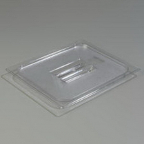 Half Size Solid Pan Lid With Handle Clear
