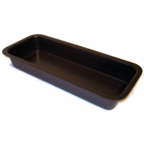 "ABS Rectangular Tray 6.5 x 15 x 2"" Black"