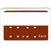 "Price Tag ""Each"" 8 Holes Red"