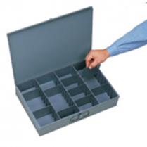 Large Grey Metal Storage Box
