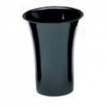 "Floral Vase 10.5""DIA x 13""H Black"