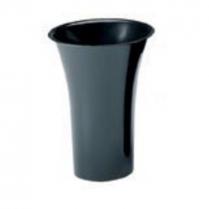 "Floral Vase 12""DIA x 16""H Black"