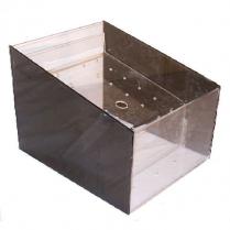 Acrylic Bulk Bin with Smoked Sides 12 x 14 x 11.5