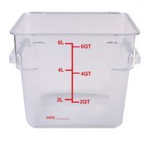 6qt Clear Container