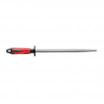 "F.Dick Sharpening Steel Round Regular-Cut Red/Black 12"""