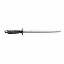 "F.Dick Sharpening Steel Round Regular-Cut Green/Black 12"""