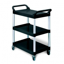 3 Tiered Utility Cart Black