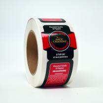 Label - Roasted Garlic & Pepper Seasoning 250/Roll