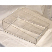 2 Compartment Sachet Rack 6.5Wx12Lx4H Clear