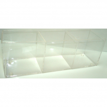 "3 Compartment Sachet Rack 3.5Wx12Lx4D"" Clear"