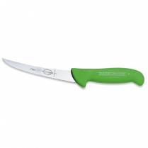Boning Knife (Curved Stiff) ErgoGrip Green 6