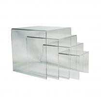 Acrylic Pedestal Clear 4/Set