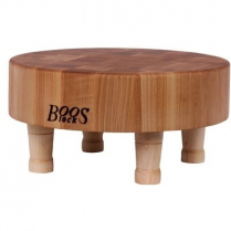 "Boos Maple Cutting Board With Feet 12""Dia x 3"" H"