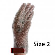 F.Dick Metal Mesh Gloves Size 2, 5 fingers, left/right ErgoP