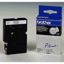 Brother PTouch Tape TC195 9mm White on Clear