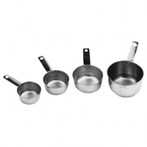 Stainless Steel Measuring Cup Set of Four 1/4, 1/2, 1/3, 1