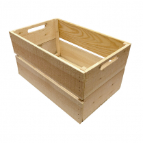 Plain Wooden Crate 22 x 14 x 12