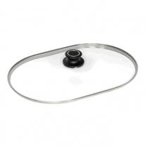 AMT Roasting Dish Lid, 42 x 28cm 18 /10 Rim