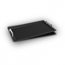 AMT Gastronorm 1/1 - 2cm with perforated BBQ surface-handles