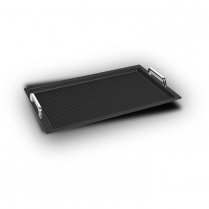 AMT Gastronorm 1/1 - 2cm with Handles + Grill surface (Induc