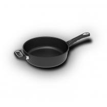 AMT Braise Pan, Ø28cm, 4.3L. Long handle & side handle