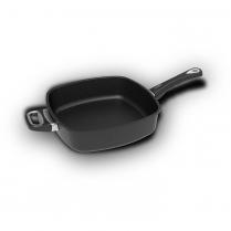 AMT Square Pan 28 x 28 x 7cm, long handle + side handle (Ind