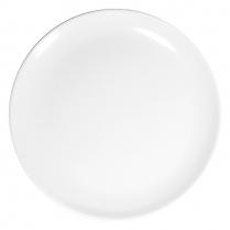 "Dalebrook White Round Platter 14"" Dia x 1.25""H"