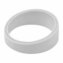 "Dalebrook White Non-Slip Slanted Riser 3.5"" Dia x 1.25""H"