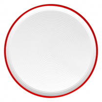 Dalebrook White/Red Pizza Plate 13.75