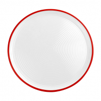 Dalebrook White/Red Pizza Plate 12.25