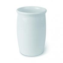 """Dalebrook White Dressing Pot 2qt 5.5"""" Dia x 8.25""""H"""
