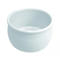 """Dalebrook White Dressing Pot 1qt 6"""" Dia x 3.5""""H"""